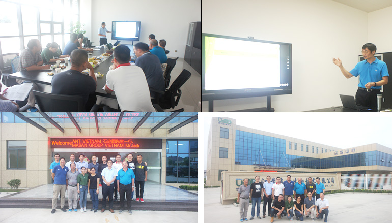 We warmly welcome the distinguished guests from Southeast Asia to visit our company